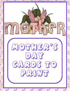 Mother's Day Cards to Print Printables & Template