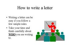 How to Write a Letter Presentation