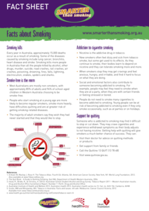 Facts about Smoking Handouts & Reference