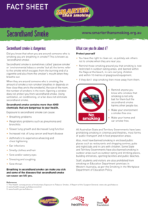 Secondhand Smoke Handouts & Reference