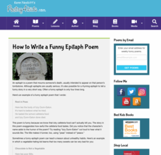 How to Write a Funny Epitaph Poem Activities & Project