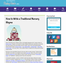 "How to Write a Traditional ""Mother Goose"" Nursery Rhyme Activities & Project"