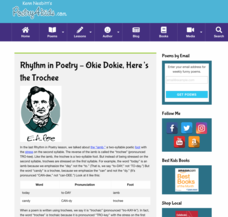 Rhythm in Poetry: Okie Dokie, Here's the Trochee Activities & Project