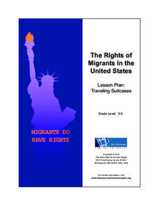 The Rights of Migrants in the United States Lesson Plan: Traveling Suitcases Lesson Plan