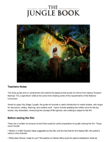 The Jungle Book Study Guide