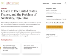 Lesson 2: The United States, France, and the Problem of Neutrality, 1796–1801 Lesson Plan