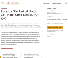 Lesson 1: The United States Confronts Great Britain, 1793–1796 Lesson Plan