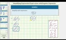 Simplify a Quotient of Expressions with Neg Exponents (Adv -2 Methods) Video