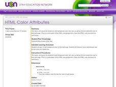 HTML Color Attributes Lesson Plan
