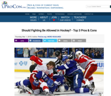 Fighting in Hockey Handouts & Reference