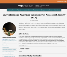 On Tenterhooks: Analyzing the Etiology of Adolescent Anxiety Lesson Plan