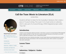Call the Tune: Music in Literature Lesson Plan