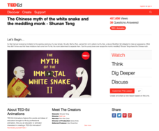 The Chinese Myth of the White Snake and the Meddling Monk Video
