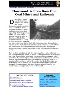 Thurmond: A Town Born from Coal Mines and Railroads (28) Lesson Plan