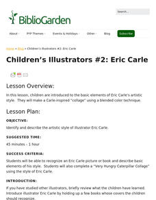 Children's Illustrators #2: Eric Carle Lesson Plan