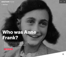 Who Was Anne Frank? Website
