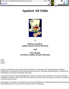 Against all Odds Lesson Plan