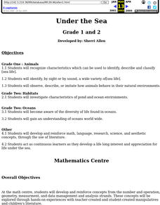 Under the Sea (Grades 1-2) Lesson Plan