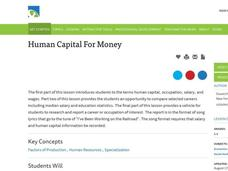 Human Capital for Money Lesson Plan