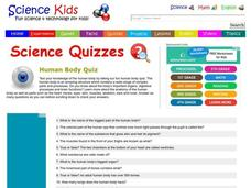 Muscles and Bones Quiz Lesson Plans & Worksheets Reviewed by