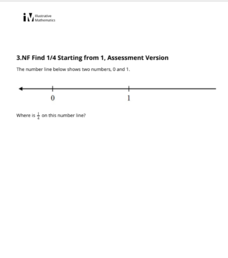 Find 1/4 Starting from 1, Assessment Version Assessment