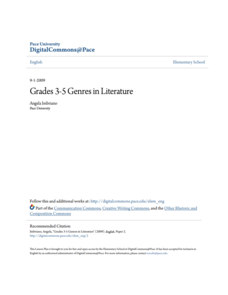 Genres in Literature Lesson Plan