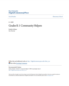 Community Helpers Lesson Plan