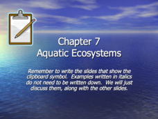 Aquatic Ecosystems Presentation