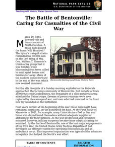 The Battle of Bentonville: Caring for Casualties of the Civil War (69) Lesson Plan