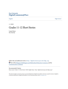 Short Stories Lesson Plan