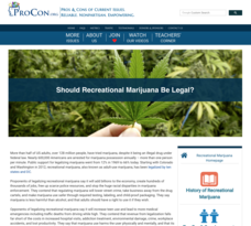 Should Recreational Marijuana Be Legal? Handouts & Reference