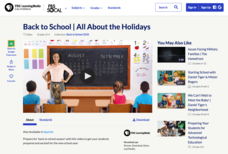Back to School | All About the Holidays Video
