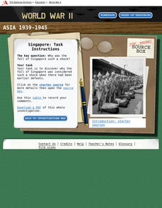 WWII: Asia 1939-45 – Singapore Interactive