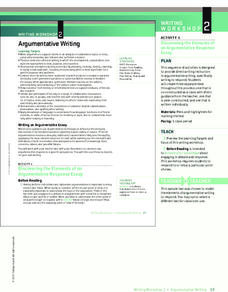Argumentative Writing Activities & Project