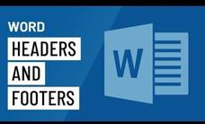 Word: Header and Footers Video