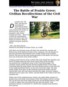 The Battle of Prairie Grove: Civilian Recollections of the Civil War (70) Unit