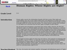 Human Rights: Whose Rights are Right? Lesson Plan