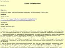 Human Rights Violations Lesson Plan