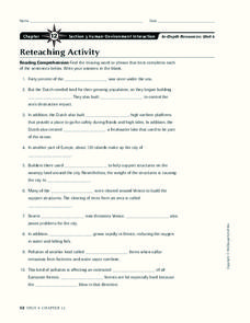 Human-Environment Interaction Worksheet
