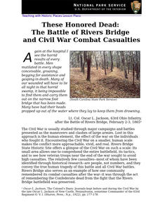 These Honored Dead: The Battle of Rivers Bridge and Civil War Combat Casualties (94) Lesson Plan
