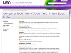 Hurry Down the Chimney Block Buster Lesson Plan