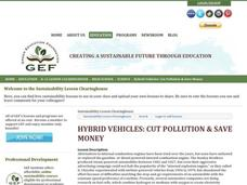 Hybrid Vehicles: Cut Pollution and Save Money Lesson Plan