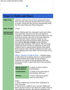 Steps to Think and Share Lesson Plan