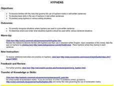 Hyphens Lesson Plan