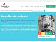 I am a Hero for Animals! Lesson Plan