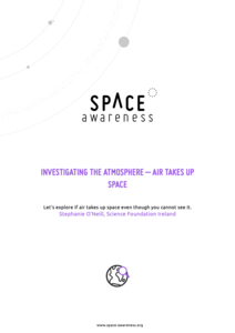 Investigating the Atmosphere - Air Takes Up Space Lesson Plan