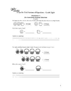 I Can Do This! Systems of Equations Worksheet