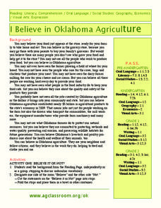 I believe in Oklahoma Agriculture Lesson Plan