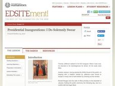 I Do Solemnly Swear: Presidential Inaugurations Lesson Plan