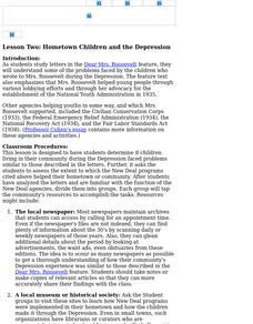 Hometown Children and the Depression Lesson Plan